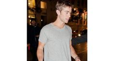 Chace Crawford looks divine in a simple grey tee whilst out and about at the Toronto International Film Festival!