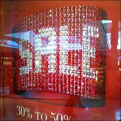 Sale Promotion Written in Rhinestones Rhinstone Jewelry Signage Window Signs, Sale Promotion, Visual Merchandising, Signage, Coding, Writing, Rhinestones, Psychology, Prints