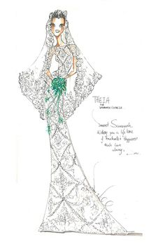 Theia's vision for Savannah Guthrie dress