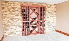 Wine Cellar Systems to Complete Your Space - WineRacks.com Wine Cellar Racks, Wine Cellars, Wine Rack, Wine Storage, Storage Ideas, Storage Spaces, Wine Cellar Design, Small Fridges, Honeycomb