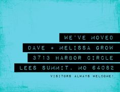 moving announcement  Label Me by minkcards on Etsy, $50.00