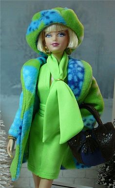 Barbie in blue and green