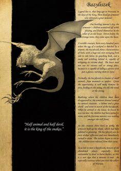 basilisk, bazyliszek, beast, slavic, slavic mythology, slavic folklore, concept art, creature design,