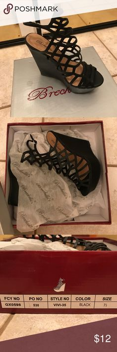 New Women's Wedge Shoes Breckelle's women's wedges. Still new in box. Never worn! Size 7.5 Breckelles Shoes Wedges