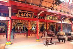A Chinese temple in Ho Chi Minh City aka Saigon.    It's eiher Thien Hau, Quan Am, or Giac Lam temple in Saigon's China town. Not sure which one it is, we're lost :))    Can somebody please help?     Chinese temples often have beautiful artistic qualities.