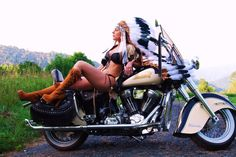 well I wish I looked like this on our bike, lol