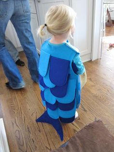 DIY Sea Creature Costumes | Here she is wearing it. Marin was just the cutest little fish I ever ...