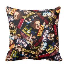 BOGO Classic Horror Movie - Dracula Pillow - Vampire Monster - 14x14 16x16 18x18 - Removable Envelope Pillow Case Cushion Cover - Home Decor...