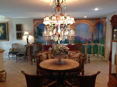 Rock Crystal, Crystal Fruit and Bronze Chandelier.  Great piece..I call it the Jeweled Chandelier.