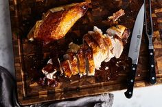 Paul Virant's Make-Ahead Roasted Turkey With Smothered Gravy recipe on Food52
