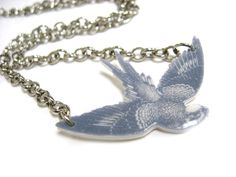 Sparrow Necklace by WriteBackSoon on Etsy, $16.00