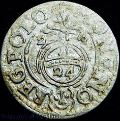 POLAND 1624 Silver 3 POLKER 1/24 Thaler sku #RX21 17th Century, Poland, Medieval, Coins, Personalized Items, Silver, Ebay, Rooms, Mid Century