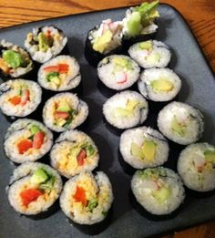 Make Your Own Sushi: Spicy Veggie Rolls