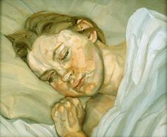 Kate Moss by Lucien Freud. I hate a love-hate relationship with his painting style & his opportunism
