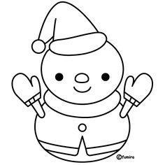 サンタの雪だるま(線画・ぬりえ) Christmas Snowman, Merry Christmas, Christmas Stuff, Coloring Books, Coloring Pages, Snowman Clipart, Snowman Images, Japanese New Year, Cartoon Pics