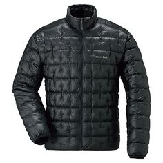 Montbell Plasma down jacket. Lightest available. Packs to about the size of an orange.
