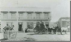 Cobb and Co.'s Royal Mail coach outside the Royal Hotel -- Dunbar's until October, 1880 -- in Lonsdale St,Dandenong,Victoria. Melbourne Suburbs, Melbourne Victoria, Back In The Day, Historical Photos, Old Photos, New Zealand, Australia, History, Country