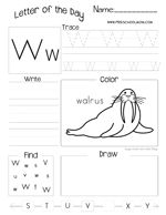 Letter of The Day Worksheets -