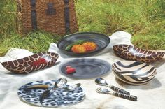 Wild Entertainment with #WorldMarket's Kingdom Animalia serveware.