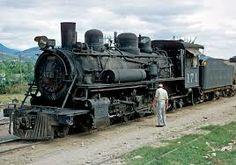 Locomotora 171.  2-8-2  Construcción alemana (Krupp).  Guatemala.