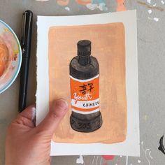 A bottle of youth. #chineseink #illustration #draweveryday Icecream, Thunder, Youth, Cleaning, Bottle, Illustration, Instagram, Ice Cream, Flask