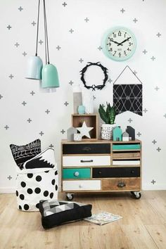 My Three Favorite Color Schemes for a Girl's Bedroom. black and white and teal bedroom. My three favorite color schemes for a girl's bedroom! The reason I love these color schemes so much is that they can be used for any age. Check them out! Design A Space, Kids Room Design, Bed Design, Home Design, Girl Room, Girls Bedroom, Bedroom Black, Bedroom Bed, Bedrooms