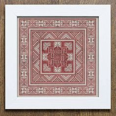 """modernfolkembroidery:  """" Brand new pattern, available at modernfolkembroidery.com now! It's no secret that I love scandinavian crafts and textiles, and this pattern was influenced by wool embroidery from Skåne in Sweden, and the beautiful Textiles..."""