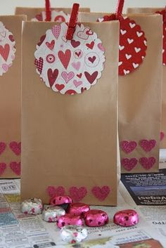Valentine's DIY Lunch bags...