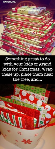 I AM SO DOING THIS! Something great to do with your kids or grand kids for Christmas season. Wrap these up and place them near the tree and...