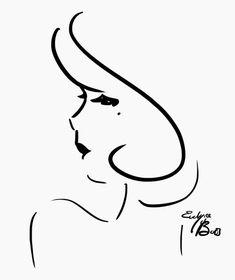 pretty line drawing portrait.