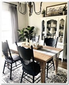46 this livingroom and dining room decor is farmhouse goals! 42 Dining Room Decor decorating ideas for small dining room walls Dining Room Walls, Dining Room Design, Dining Area, Living Room Decor, Furniture For Dining Room, Dinning Room Table Decor, Dining Room Corner, Dinning Chairs, Decor Room