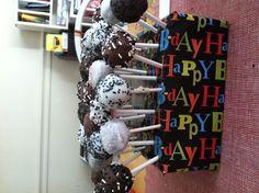 Echo's bday cake pops
