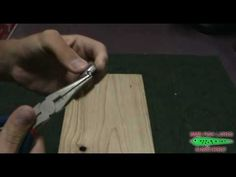 Video showing you how to make a bottle cap lure.