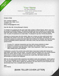 Resume Examples Bank Teller Sample Resume Cover Letter Cover