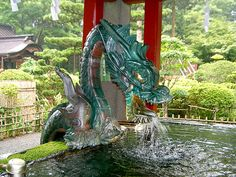 Ryūjin- Japanese WaterDeity    In Japanese mythology Ryujin was a great dragon whopresidedin a red and white coral palace at the bottom of the ocean. He was the patron deity of the sea and was responsible for the strength and direction of its tides. It was also said that Ryujin could take the form of a human.    #Japanese #Mythology