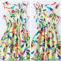 2015 lente Vrouwen Jurk Jurken Flower Gedrukt Bohemian Roupas Femininas Vestidos De Renda Tropical Kleding Zomer Casual Dress