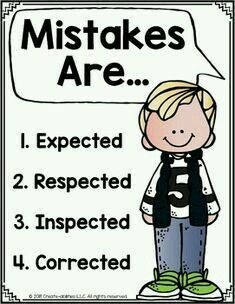 FREE Mistakes Are Posters for Growth Mindset This FREE printable 10 page poster set is a great way to create a positive classroom climate. Promote a growth mindset inside your classroom and help your students remember that mistakes are expected as part of Social Emotional Learning, Social Skills, Social Anxiety, Beginning Of School, First Day Of School, High School, Classroom Organization, Classroom Management, Bon Point