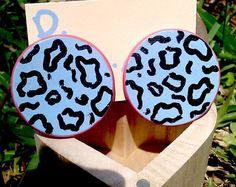 Hand Painted Round  Wooden Medium Size Studs by PrettyGurlPink, $13.99