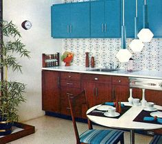 1965...the wallpaper and pendants are to die for!