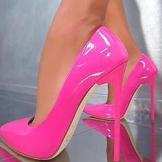 So nice pink high heels Pink High Heels, Hot High Heels, High Heels Stilettos, High Heel Boots, Stiletto Heels, Sexy Heels, Beautiful High Heels, Beautiful Gorgeous, Pantyhose Heels