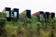 a f a s i a: RCR Arquitectes. Vertical Houses on Horizon. Australia House, Backyard Office, Metal Facade, Rural House, Small Buildings, Unusual Homes, Architect Design, Residential Architecture, Architecture Details