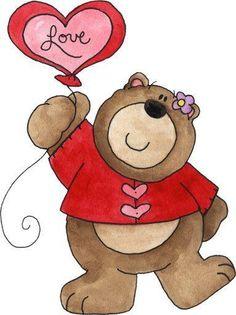 Tierno Osito Craft Ideas Valentines Bear Clip Art