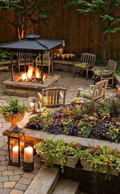 17 tips for beautiful garden with fire pit to make your friends jealousy