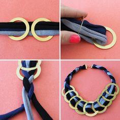 Moderno collar con aros y trapillo | El blog de trapillo.com