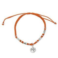 Clemson Braided Friendship Bracelet in Sterling Silver #clemson #clemsontigers #tigers #tigerpaw