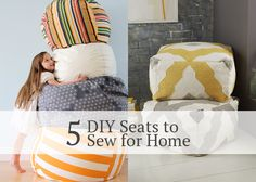 5 DIY seats to sew for your home - Andrea's Notebook