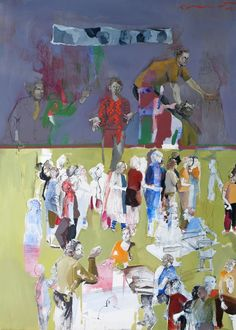 """Saatchi Art Artist: golnaz AFRAZ; Paper 2012 Painting """"Les marionnettes"""""""
