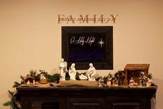 Nativity Backdrop Printable