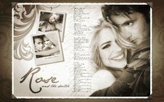 Rose and The Doctor desktop wallpaper (the text:  lyrics to Far Away by Nickelback) Oh the Feels! #doctorwho #DavidTennant #BilliePiper