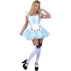 Adult Sexy Alice in Wonderland Costume  sc 1 st  Pinterest & 2 Piece Sexy Alice in Wonderland Costume | halloween costumes ...
